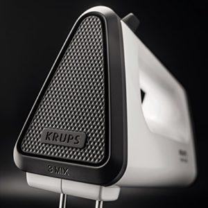 Krups GN5021 Handmixer mit Turbostufe, 3 Mix 550, 500 W, Tubo-Quirle und Spriral-Kneter aus Edelstahl, weiß / schwarz - 7