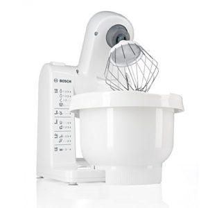 Handmixer mit Rührschüssel Bosch MUM4427 Küchenmaschine MUM4 (500 Watt, 3,9 Liter) weiß - 2